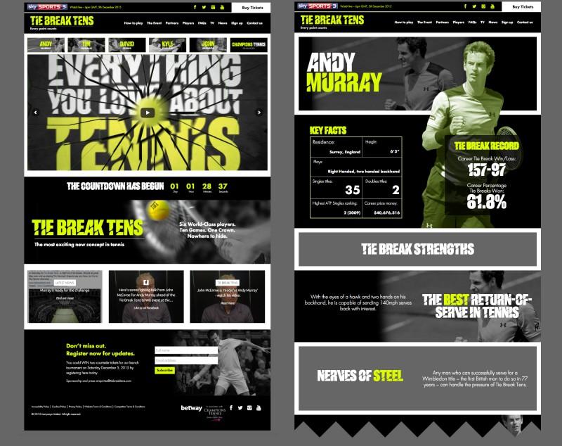 tie break tens website build